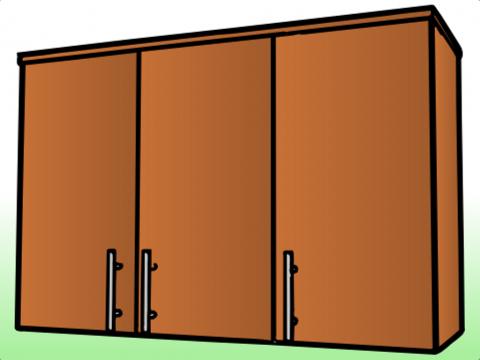 Anaquel de tres puertas anaqueles ahora for Medidas de anaqueles de cocina
